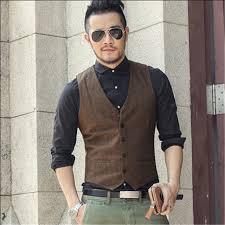 Fashion Vest Male Woolen MenS Clothing Slim Fit Men Winter Casual Vintage Style Sleeveless Shirt