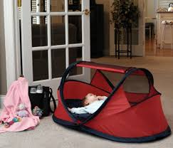warning infant suffocation in peapod travel portable bed gypsy