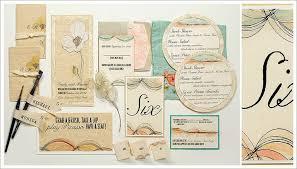 Peach And Green Wedding Invitation