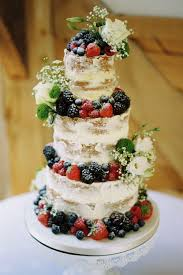 Delicious Fruit And Flower Naked Cake Photography Taylor Barnes Wedding