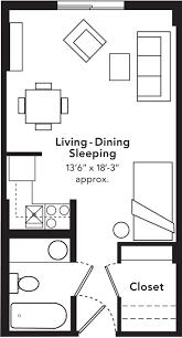 100 Tiny Apartment Layout 58 House Kitchen Floor Plan Studio Creative Small Studio