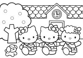 Click To See Printable Version Of Hello Kitty Friends Coloring Page
