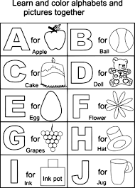 Alphabet Coloring Pages For Kindergarten Free