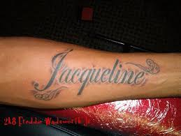 Forearm Name Tattoo Designs Script