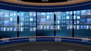 85HD News Talkshow TV Virtual Studio Green Screen Background Control Room Stock Animation