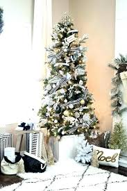 8 Ft White Christmas Tree Uk Unlit Flocked Pencil Pine Yarannorthside