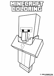 Minecraft Coloring Kids Simple Pages Printable