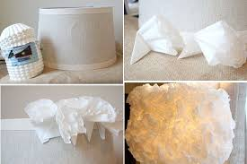 DIY Coffee Filter Lamp Shade