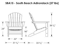 Red Adirondack Chairs Polywood by Polywood South Beach Adirondack Chair