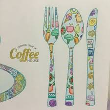 Cafe Coloring Book Coloringbookforadults Coloringbook