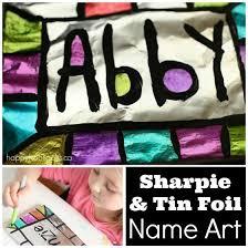 Sharpie Tin Foil Name Art
