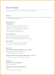 Waitress Resume Examples Sample For Server Cv Example No Experience Waiter
