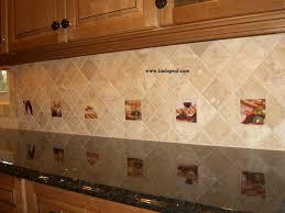 Accent Tiles For Kitchen Backsplash Subway Tile Backsplash With Accent Home Design