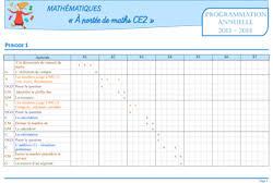 à portée de maths ce2 progression annuelle et programmation par