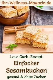 einfacher schneller low carb sesamkuchen rezept ohne