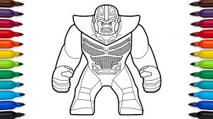 How To Draw Lego Thanos From Marvels Avengers Infinity War Coloriage Hulk Buster