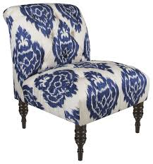blue and white accent chair with regard to the house dfwago