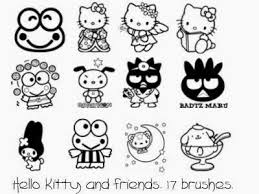 Coloring Pages Hello Kitty And Friends