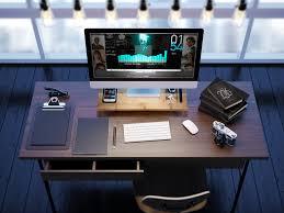 Imac Monitor Desk Mount by Prosumer U0027s Choice Natural Bamboo Imac Monitor Stand Riser