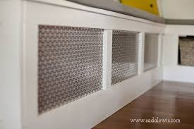 Decorative Return Air Grille Canada by Diy Kitchen Banquette How To Cover An Air Vent 1 Decorative