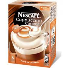 Nescafe Cappuccino Caramel 500g Pack Of 30