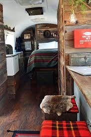 Tartan Interiors For Caravan Trailer Camper Van With Beautiful Polished Wood Mackenzie Edgerton And Blaine Vossler Converted A Seriously Weatherworn 1979