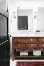 Kohler Purist Bathroom Faucet by Walnut Bathroom Vanity Transitional Bathroom