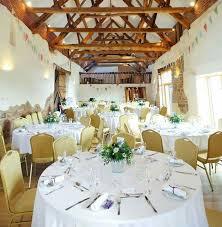 The Corn Barn Wedding Breakfast Layout Table Displays Rustic