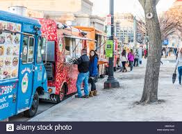 Washington DC, USA - January 28, 2017: Food Trucks On Street By ... Mobile Billboards In Washington Dc Maryland Virginia Food Trucks Ling Farragut Square Stock Photo Bomb Squad Fire And Ems Trucks Responding To Call Usa Cluck Truck Roaming Hunger District Falafel Heaven On The National Mall September Dc Craigslist Cars And For Sale By Owner 1920 New Car Billboard For Rent Ooh Dooh January 28 2017 Street By Christmas Trees Journey Ends Medium Duty Work