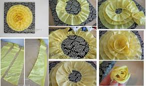 How To Make 3D Cloth Flower Decoration Step By DIY Tutorial Instructions Thumb