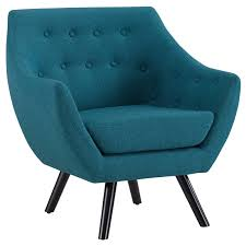 100 Contemporary Armchair Modway Allegory MidCentury Modern Upholstered Fabric Accent Arm Chair In Teal LAVORIST