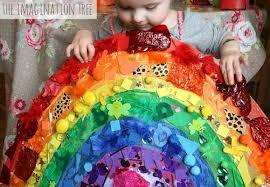 Rainbow Collage Activity Colour Balloons