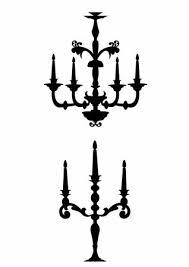 Chandelier Cliparts Silhouette Clip Art Free Vintage