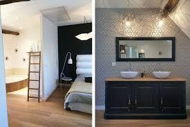 chambre avec salle de bain suite parentale idées déco pour décorer sa chambre avec salle de