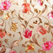 Rustic Country Style Gold Foil Sliver Embossed Flower Wallpaper Wedding Room In Wallpapers From Home Improvement On Aliexpress