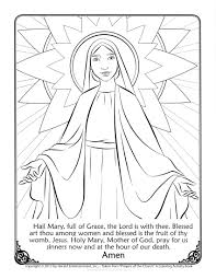 Draw Mary Coloring Page