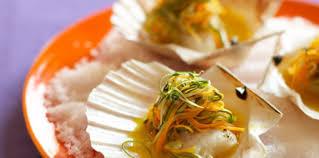 cuisiner les coquilles st jacques surgel馥s coquilles jacques et sa julienne de légumes recette sur