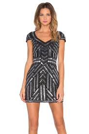 parker elijah sequin dress in black revolve