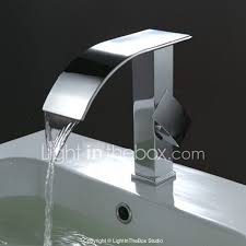 Wall Mounted Waterfall Faucets For Bathroom Sinks by Bathroom Waterfall Sink Faucet Modern Bathroom Faucets