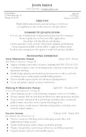Resume Templates For Administrative Assistants