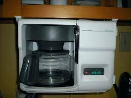 Undercounter Coffee Maker Under Counter Makers Cabinet Black And