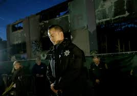 Christmas Tree Lane Alameda by Oakland Warehouse Fire First Responders Hold Ceremony