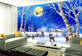 3d Room Wallpaer Custom Mural Photo Christmas Night Snow Children Background Decoration Painting Wall Murals Wallpaper For Walls 3 D Widescreen High