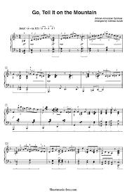 Sinking Deep Piano Easy by Go Tell It On The Mountain Piano Sheet Music Gospel Download Go