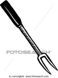 Clipart Carving Fork Fotosearch Search Clip Art Illustration Murals Drawings and