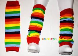 leg warmers rainbow bright