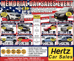Memorial Day Sales Event, Hertz Car Sales, Idaho Falls, ID Pickup Trucks For Sales Fontana Used Truck Cars For Sale Fort Smith Ar 72904 Hertz Car Penske They Are Not Groomed Youtube Stone Mountain In Surgenor National Leasing Dealership Ottawa On K1k 3b1 Edmton Volvo Scania Suppliers And 3 Months Sirius Radio Free Marietta Find Ga Tractor Units Vancouver Suv Dealership Budget