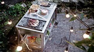 draußen speisen outdoorküchen liegen voll im trend