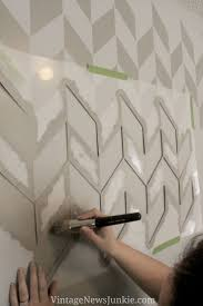 Wall Paint Patterns Wonderful Simple Painting Herringbone Stencil Pattern Present Print Full Size Of Large