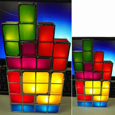 Tetris Stackable Led Desk Lamp Amazon by Tetris Shape Led Nights Lights Retro Game Style Stackable Led
